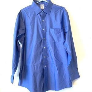 Brooks Brothers Large Blue Button Down Shirt Men's